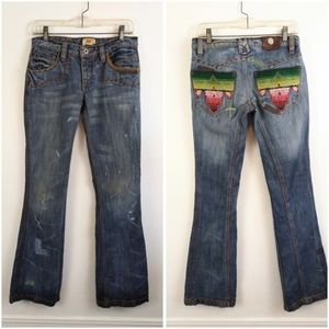 Antik Denim Embroidered Jeans